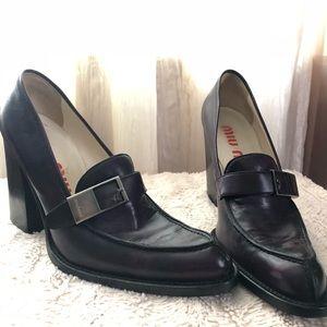 1062345614bf Miu Miu Shoes - Deep purple Miu Miu Chunky Heels size 40